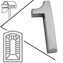 Magicdo® 3/pack 2'' Silver Modern House Numbers, Modern Mailbox Number Sticker, 3D Metal Shining Reflective Number, Self-Stick Number, Floating Appearance Number, Silver House Number Signs (#1)