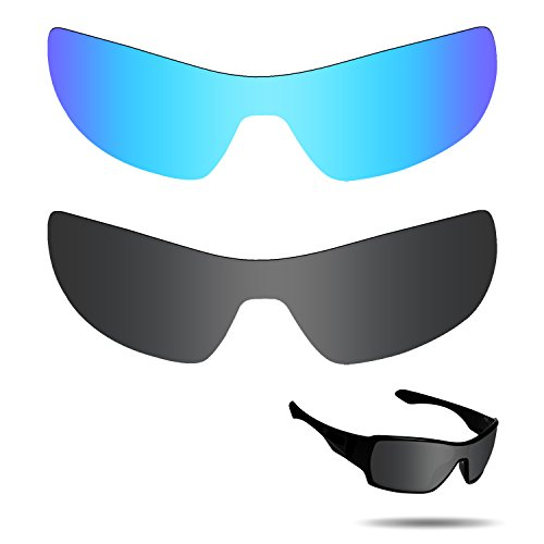 Fiskr Anti-saltwater Polarized Replacement Lenses for Oakley Offshoot Sunglasses 2 Pairs - Offshoot Sunglasses