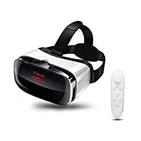 VR headset, No dizzy feeling Virtual Reality Headset for VR Games and 3D Movie, Compatible with 4.5-6.3 inch screens