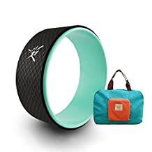 "Yoga Wheel with Manual and Foldable Bag for Dharma Yoga Poses, Backbends, Stretching, Relieves Pain and Stress in Back, Chest and Shoulder | Increase Flexibility | Fitness Assist in Dharma Yoga 13"" x 5""/33 x 13cm (Dia x Width)"