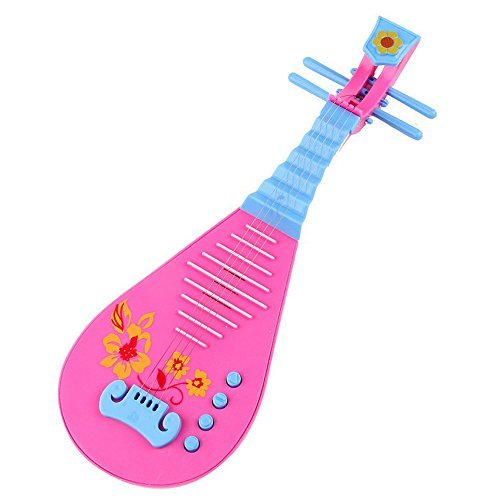Children's Educational Toys Electronic Music Guitar Magic Lute Instrument Xmas Gift Battery Operated