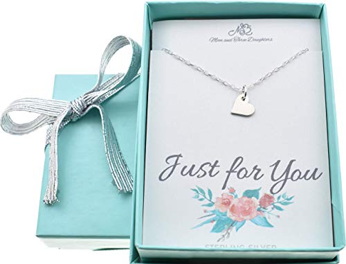 - Little girls, Girls tiny heart necklace in sterling silver on a 14