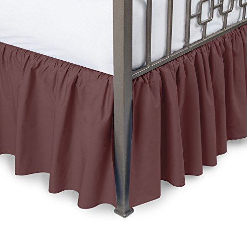 king size bed skirt harmony ruffled bed skirt with split corners king 29403