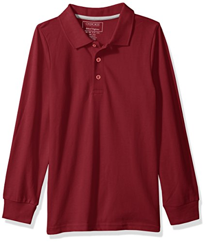 CHEROKEE Boys' Uniform Long-Sleeve Pique Polo