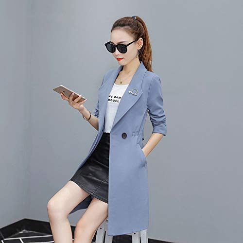 Thin Suit Coat Coatcoat Collar Temperament Wu C Female Long Jacket Section p06Axf
