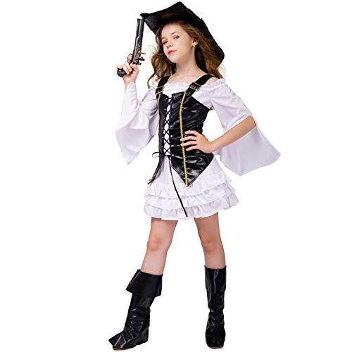 DSplay Kid's Girl Pirate Costume -