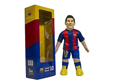 - TOODLES DOLLS FC Barcelona Realistic Figure Players, 45 cm/17.7 in Sizes (Messi, Neymar JR, Suarez, Pique, Iniesta) (Lionel Messi)