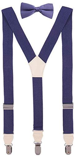 (CEAJOO Little Boys' Bow Tie and Suspenders Set Adjustable Y Back 30