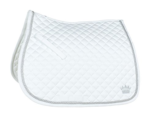 (Horze Silver Cord All Purpose Saddle Pad - White - Full)