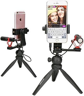 Ulanzi Soporte de Video para teléfono Trípode Shotgun Micrófono ...