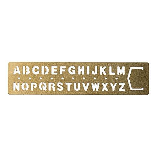 Midori Brass Template Alphabet