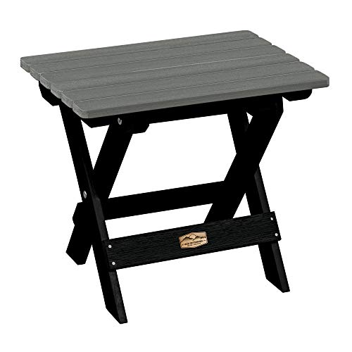 Elk Outdoors EO-TBS1-FLN Essential Folding Side Table, Flint
