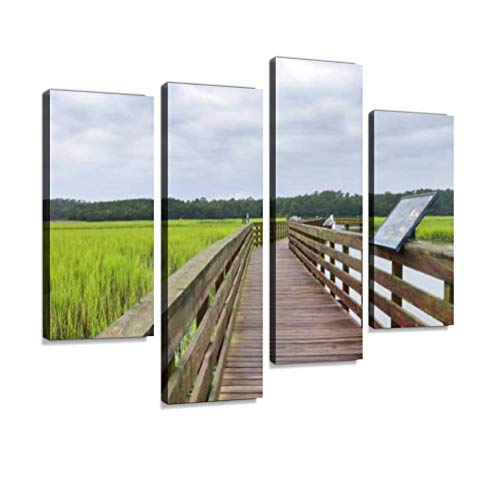 Huntington Beach State Park, South Carolina, USA. Canvas Wall Art Hanging Paintings Modern Artwork Abstract Picture Prints Home Decoration Gift Unique Designed Framed 4 Panel