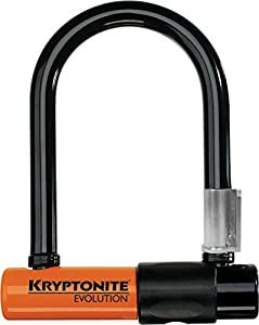 kryptonite evolution mini 5 bicycle u lock with transit flexframe bracket. Black Bedroom Furniture Sets. Home Design Ideas