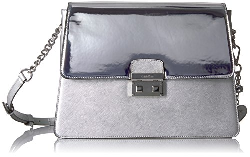 Calvin Klein Novelty Mirrored Large Flap Crossbody by Calvin Klein