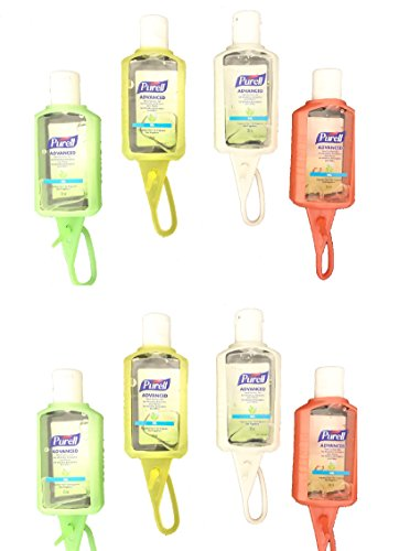 PURELL Advanced Instant Hand Sanitizer - 4 Travel Sized Jelly Wraps Portable Sanitizer Bottles