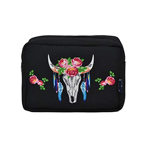 NGIL Large Travel Cosmetic Pouch Bag 2019 Collection (Steer Head Black)