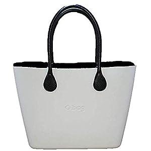 OBAG Borsa o bag urban bianco sacca interna nero manico lungo nero 14