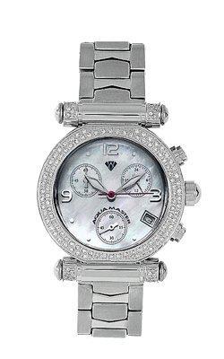 Aqua Master Ladies' Round Diamond Watch, 0.85 ctw by Aqua Master