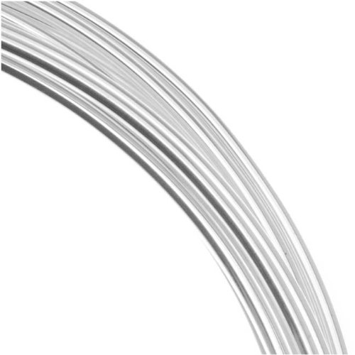 Gauge/1.5mm Silver Plated Copper German Bead Wire Craft Wire, 1.8m/5.9' ()