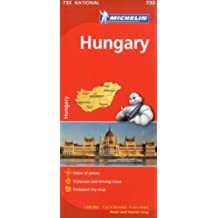 Hungary Michelin Road Map MH732