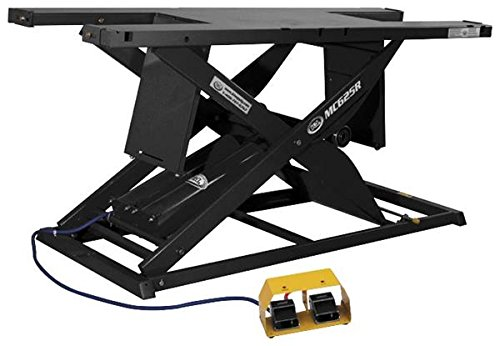K&L Black MC625R Heavy Duty Air Motorcycle Lift Table