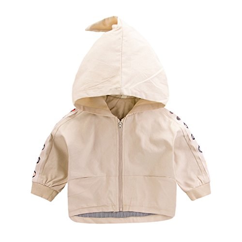 YADEER Boys Jackets Baby Boys Zipper Shirt, Hooded Coat, Children's Operas Facial Coat Jackets Khaki 5