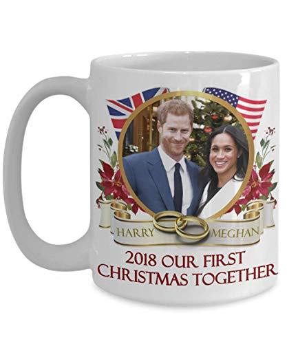 (Prince Harry And Meghan Markle Royal First Christmas Together Commemorative Coffee Mug Gift v2)