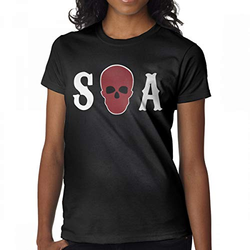GMSQJ-Top Women's Fashion Sons of Anarchy Season Tees XL Black