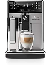 Saeco PicoBaristo Super Automatic Espresso Machine with Milk Carafe, HD8927/47, Stainless Steel