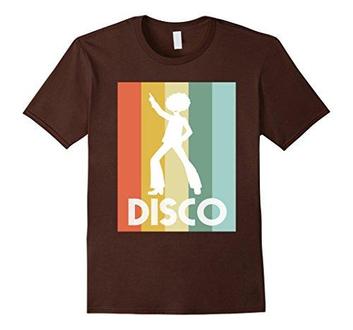Mens Retro Disco Dancing 70s Disco Dancer Shirt Large Brown