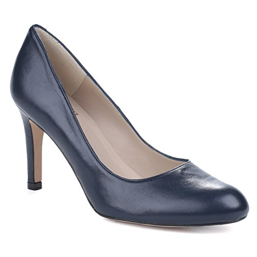 Riva On Ladies Plain Slip Womens Pumps Heeled High Black wBpwrTq