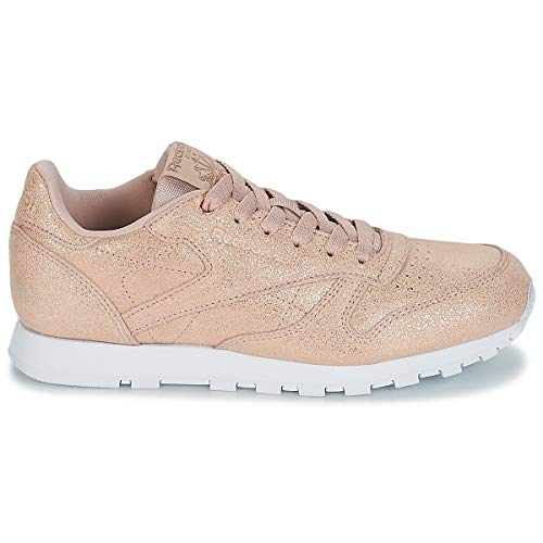 rose Reebok Multicolore ms Chaussures Gold Classic 0 Be Leather bare De Femme Fitness q4qr8AO