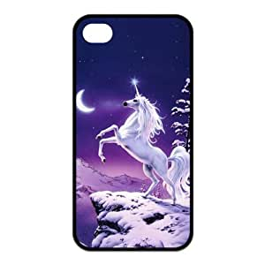 Unicorn Horse Protective Rubber Back Fits Cover Case for iPhone 4 4s