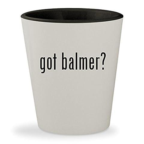 got balmer? - White Outer & Black Inner Ceramic 1.5oz Shot Glass (Balmer Swiss Noble Watch)