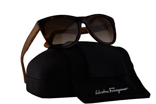Salvatore Ferragamo SF685S Sunglasses Havana w/Brown Lens 214 SF - Ferragamo Salvatore Sunglasses