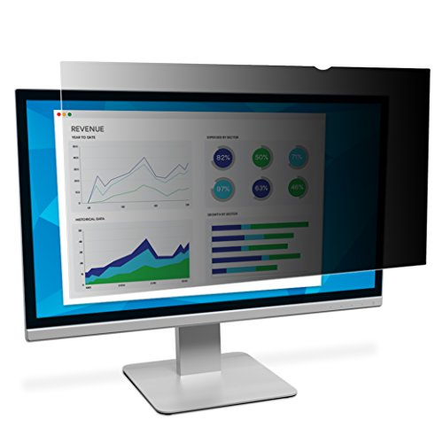 "3M Privacy Filter for 22"" Widescreen Monitor, Black out side views, Reduces blue light (16:10) (PF220W1B)"