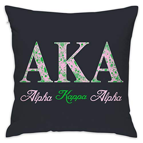 POP SHOTSTM Alpha Kappa Alpha Square Throw Pillow Cover 18