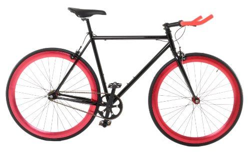 Vilano Edge Fixed Gear Single Speed Bike, Medium, Black/Red (Single Speed Road Bicycle)