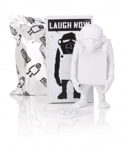 Laugh Now 6 DIY White Vinyl Art Toy Figure by Prannoi