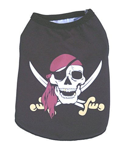 Flying Costume Dogs Pattern For Monkey (Freerun Pet Clothes Pirate Skull Pattern T-Shirt Vest Puppy Dog Cat Costumes -)