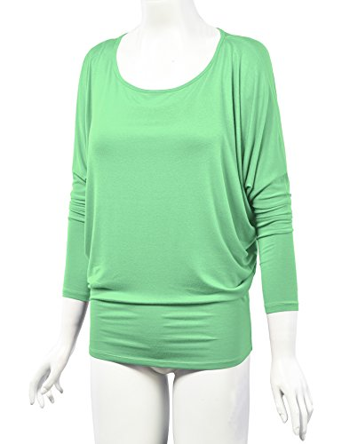 Lock and Love WT826 Womens Batwing Long Sleeve Top M Mint by Lock and Love (Image #4)