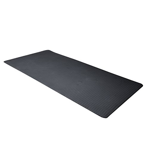 CAP Barbell Antimicrobial EVA Foam Mat, Black Diamond Plate