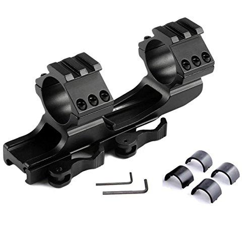 Paddsun 1 inch /30mm QD Quick Release Cantilever Weaver Forward Reach Dual Ring Rifle Scope Optics Mount