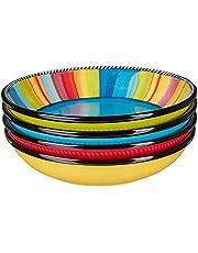"Certified International Sierra 9"" Soup/Pasta Bowl, Set of 4 Assorted Designs"
