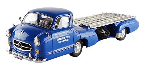 100% autentico - CMC – m-143 m-143 m-143 – Mercedes-Benz Transporter – Revised Edition – 1954 – Escala 1 18 – azul plata  ganancia cero