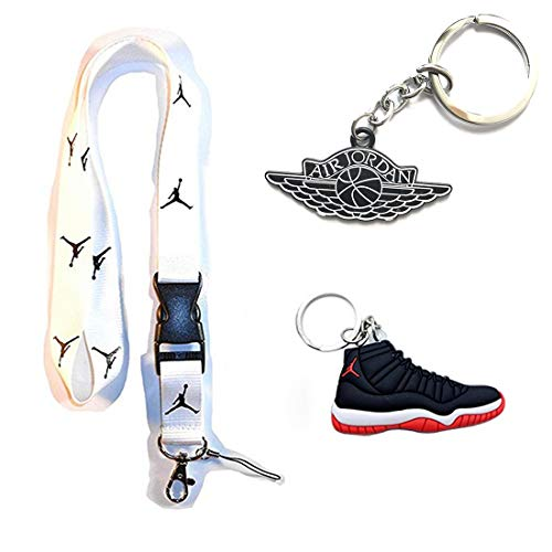 8923d33f3e5ed White Basketball Lanyard Keychain Holder & Flight Metal Keychain & 2D  Plastic Keychain