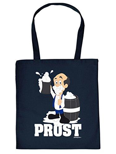 PROST -Tote Bag Henkeltasche Beutel mit Aufdruck. Tragetasche, Must-have, Stofftasche. Geschenk,Bier