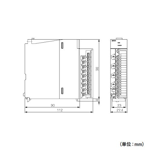 MITSUBISHI ELECTRIC Q64DAN MELSEC-Q Analog I/O module (Analog Output Modules)(Analog Output points 4points) NN