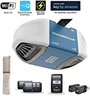 Chamberlain Group Chamberlain B970 Smartphone-Controlled Ultra-Quiet and Strong Belt Drive Garage Door Opener